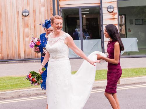 Before the ceremony - Raj & Claire - Audley Park-27